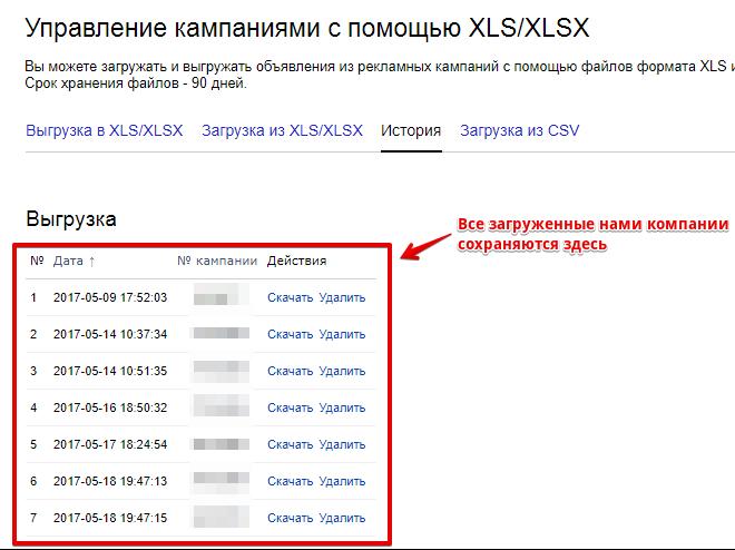 Управление Яндекс Директ через xslx